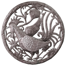 Rooster with 3D Wing Metal Wall Art | Le Primitif