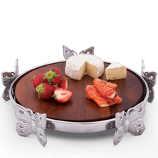 Butterfly Wood Cheese Board | Arthur Court Designs | 201B34