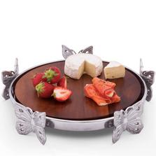Butterfly Wood Cheese Board | Arthur Court Designs | 201B34