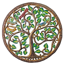 Ivy Tree with Border Painted Metal Wall Art | Le Primitif