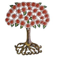 Red Bouquet Painted Metal Wall Art | Le Primitif