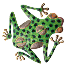 Tree Frog Painted Metal Wall Art | Le Primitif