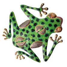 Tree Frog Painted Metal Wall Art | Le Primitif