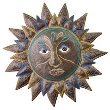 Sun Flower Painted Metal Wall Art | Le Primitif