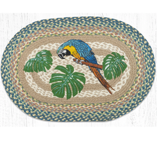 Parrot Patch Oval Braided Rug | Capitol Earth Rugs | OP-614