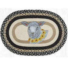 Flower Lamb Oval Braided Rug | Capitol Earth Rugs | OP-430