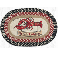 Fresh Lobster Oval Braided Rug | Capitol Earth Rugs | OP-430