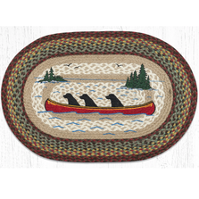 Labs In Canoe Oval Braided Rug | Capitol Earth Rugs | OP-081