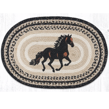 Stallion Oval Braided Rug | Capitol Earth Rugs | OP-9-093