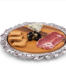 Olive Wood Cheese Board Platter Set | Arthur Court Designs | 202G12
