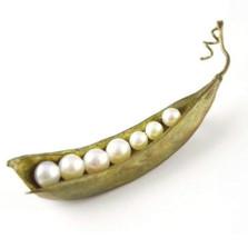 Peapod Seven Pearl Pin | Michael Michaud Jewelry | SS5647bzwp -2