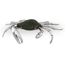 Blue Crab Silver Plated Sculpture | A-77 | D'Argenta