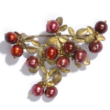 Cranberry Design Pin | Michael Michaud Jewelry | SS5669bzcr -2