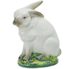 Bunny Sitting Ceramic Sculpture | Intrada Italy | HOP9051