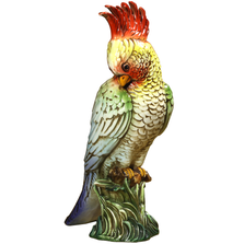 Red Parrot Ceramic Sculpture | Intrada Italy | PAR9197