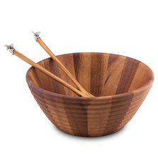Bee Hive Salad Bowl Serving Set | Vagabond House | N220NL