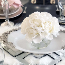 Lilac Flowers Stoneware Serving Tray | G304SB | Vagabond House