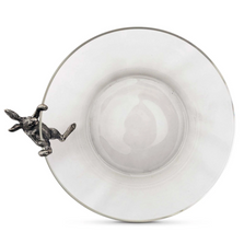 Climbing Bunny Rabbit Glass Salad Serving Bowl | Vagabond House | G413CB