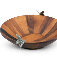 Butterfly Acacia Wood Salad Bowl | Vagabond House | G212BFL