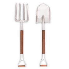 Garden Fork and Shovel Salad Serving Set   Vagabond House   R19P