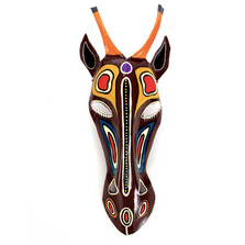 Antelope African Mask Painted Wall Art | Mbare | PTM-ANT
