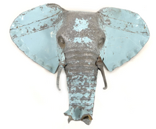 Elephant Animal Mask Recycled Metal Wall Art | Mbare | RCTM-E