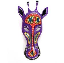 Giraffe Painted African Animal Mask Wall Art | Mbare | PTM-GIR
