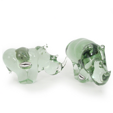 Recycled Glass Rhino Sculpture | Mbare | NG02-B