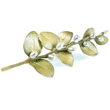 Irish Thorn Leaves Pin | Michael Michaud Jewelry | SS5716bzwp -2