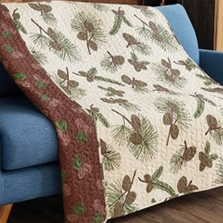 Forest Pines Primitive Quilted Throw Blanket | DQT683