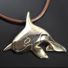 Orca Whale Bronze Pendant Necklace | Nature Jewelry | Anisa Stewart | BRS1007-18