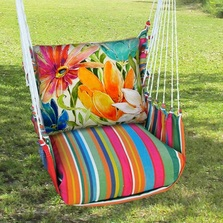 Tropical Flower Hammock Chair Swing Le Jardin | Magnolia Casual