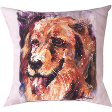"Golden Retriever ""Pet Love"" Throw Pillow 