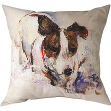 "Jack Russell Terrier ""Pet Love"" Indoor/Outdoor Throw Pillow 