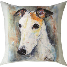 "Greyhound ""Pet Love"" Indoor/Outdoor Throw Pillow 