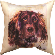 "Water Spaniel ""Pet Love"" Indoor/Outdoor Throw Pillow 