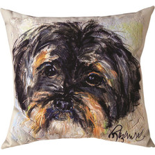 "Shih Tzu ""Pet Love"" Indoor/Outdoor Throw Pillow ""Luna"" 