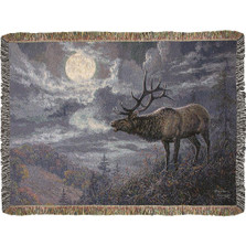 Native Song Elk Tapestry Throw Blanket | Manual Woodworkers | ATNSE