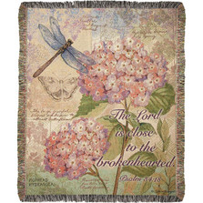 Dragonfly Field Guide with Verse Tapestry Throw Blanket | Manual Woodworkers | ATFGWV