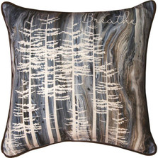 "Trees Breathe ""Lodge Fluidity"" Throw Pillow 