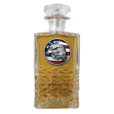 Eagle with Flag Heritage Decanter | Heritage Pewter | HD4318ER