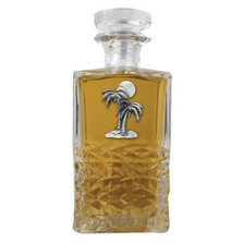Palm Tree Heritage Decanter | Heritage Pewter | HD4216