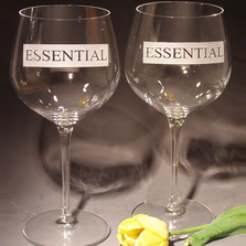 Essential Etched Crystal 18 oz Wine Glass Set of 2 | Evergreen Crystal | 613Ess