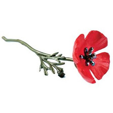 Red Poppy Pin | Michael Michaud Jewelry | SS5803BZPK -2