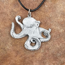 Octopus Pewter Pendant Necklace | Andy Schumann | SCHOCTOPEND