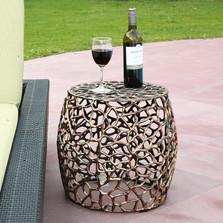 Branch Lattice Pattern Patio Table Garden Stool | SPI Home | 21005