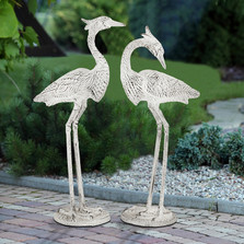 Courting Egrets Outdoor Garden Statue Set of 2 | SPI Home | 53012