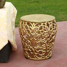 Leaf Lattice Pattern Patio Table Garden Stool | SPI Home | 21004