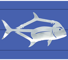 African Pompano Stainless Steel Wall Art   R Mended Metals   100603