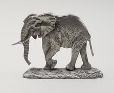 African Elephant Pewter Shelf Accent Sculpture | Andy Schumann | SCHAFELESHELF